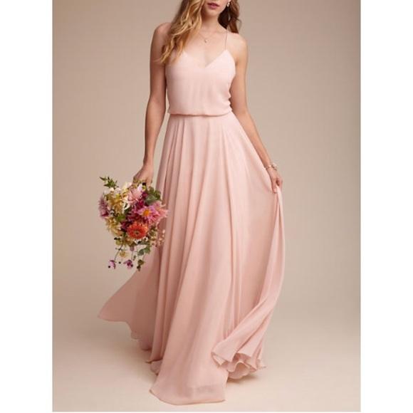 5e8c7ba3c505 Jenny Yoo Dresses | Inesse Chiffon Vneck Spaghetti Strap Gown | Poshmark